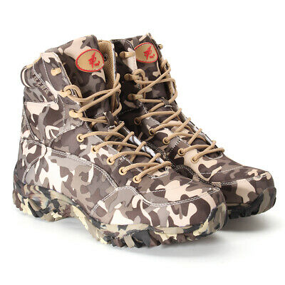 US Men Army Military Tactical Hiking Combat Shoes Trekking Desert Ankle Boots