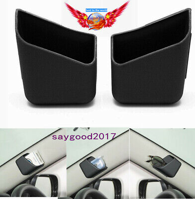 2X Car Storage Box Auto Accessories Mobile phone Glasses Organizer Holder Black