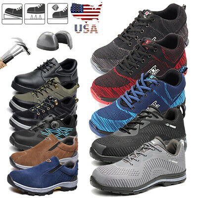 Mens Safety Work Shoes Steel Toe Boots Indestructible Bulletproof Sport Sneakers