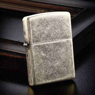 Classic Antique Silver Plate 121FB Zippo Lighter - AU Shipping