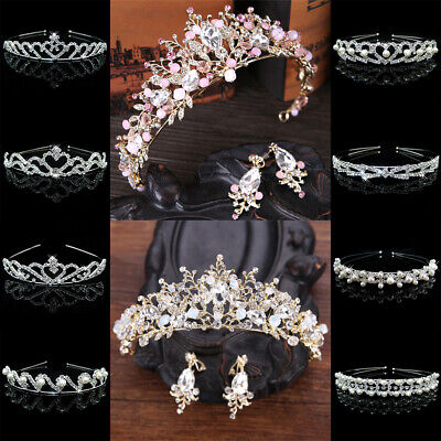 Crystal Diamante Rhinestone Alice Head Hair Band Tiaras Bridal Bridesmaid Prom