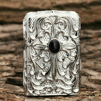 Jacket Silver Black Pearl Japanese Armor Craft Zippo Lighter - AU STOCK