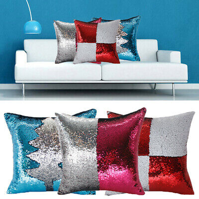 Color Changing Reversible Sequin Pillowcase Decorative Pillow Cover Cushion