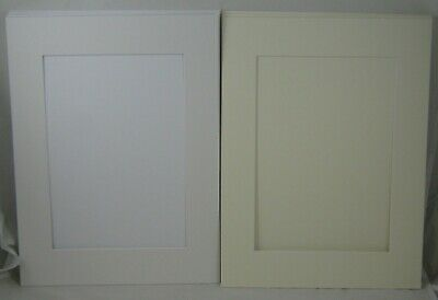 "White Picture & Photo Mount back X 4 - Cream X 2 - 16"" X 12"" A4 aperture"