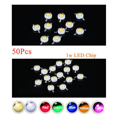 50pcs LED COB Chip 1W LED Bulb Diodes Lamp DIY High Power Light Beads SMD