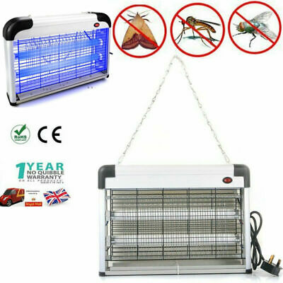 Industrial 20W Electrical Insect Bug Fly Mosquito Killer Zapper 2 Uv Tube Lamp