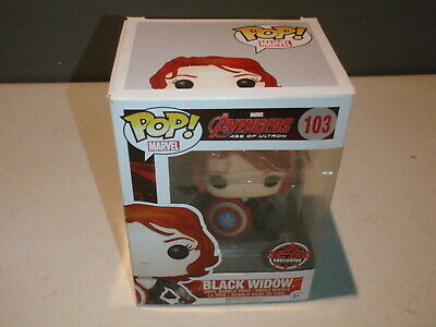 Funko Pop! Black Widow Marvel #103 Avengers Age Of Ultron Gamestop EB Exclusive