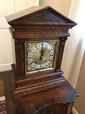 Antique Bracket Clock Winterhalder & Hofmeier Ting Tang Clock