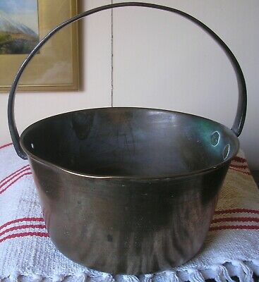 Large Vintage Brass Pan - Very Heavy, Decorative  And Good Quality