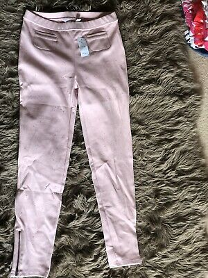 Gap Girls Pretty Light Pink Sparkly Stretchy Trousers Soft Legging  Age 13 XXL