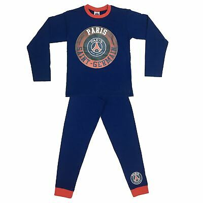 Boys Paris Saint Germain Football Club Blue Snuggle Fit Pyjamas