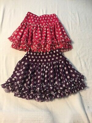 Childrens Place Toddler Girls 4T Set TWO Ruffle Flare Skirts Pink & Purple