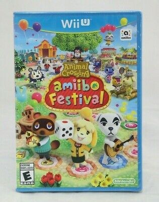 Animal Crossing Amiibo Festival Nintendo Wii U Brand New Sealed Game Only