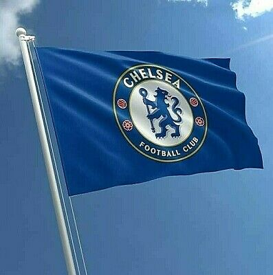 CHELSEA FC LARGE FOOTBALL WINDOW BANNER CLUB MAST FLAG 5 X 3ft OFFICIAL GIFT CFC