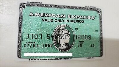 Mexico - American Express - Expired - Credit Card - 1984 - Old & Rare