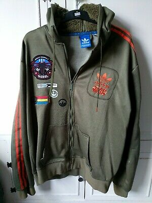 ADIDAS ORIGINALS STAR Wars X Wing Hoodie Military Jacket Men