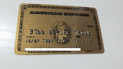 Mexico - American Express - Expired - Credit Card - Gold - 1987 - Old & Rare
