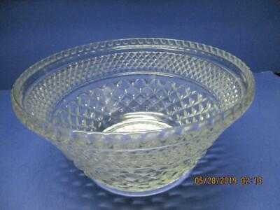 "Anchor Hocking WEXFORD Pattern Large Salad Serving Bowl 9-1/2"" Wide x 5"" Tall"