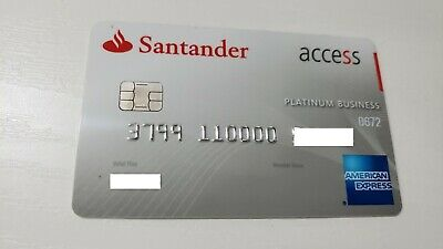Mexico - American Express - Expired - Credit Card - Santander - With Chip