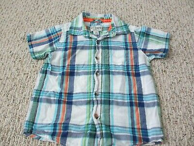 Children's Place 2T Boys Multi-color Plaid Dress Shirt