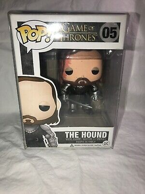 FUNKO POP GAME OF THRONES THE HOUND 05 RETIRED VAULTED In PROTECTOR