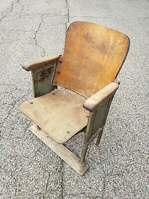 Vintage theater chair seat  great for man cave!