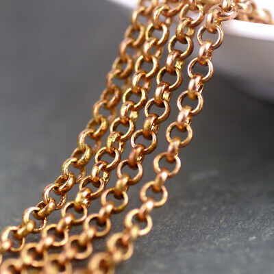 2ft 3.5mm Solid Red Brass Rolo Rollo Chains for Necklace c195
