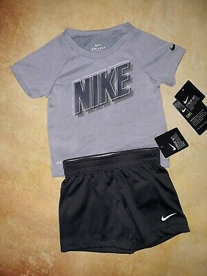 50a949513c Nike Baby Boy 12M 12 Months Dri Fit T Shirt Top Tee Shorts Bottoms Set  Outfit