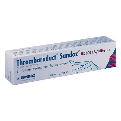 Thrombareduct Sandoz 180000 I.E./100g 40g PZN 00858384
