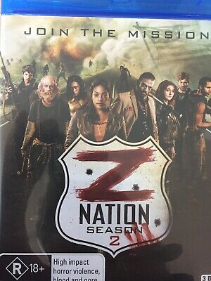Z NATION - Season 2 3 x BLURAY Set AS NEW! Complete Second Series Two
