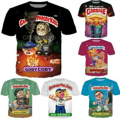 Fashion Casual T-Shirt Garbage Pail Kids 3D Print Men Women Short Sleeve Tops