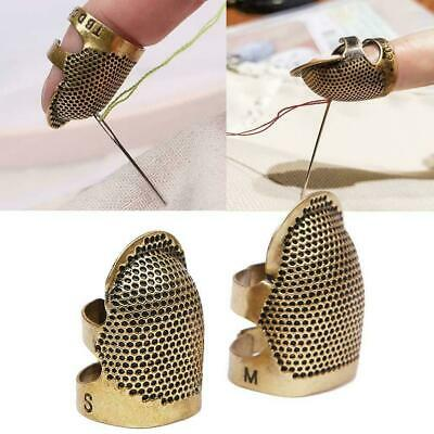 1pcs Retro DIY Hand Sewing Thimble Finger Shield Protector Metal Ring Craft Sale