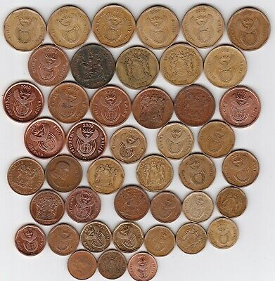 44 different Copper coins from SOUTH AFRICA