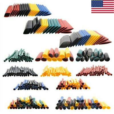 2:1 Polyolefin Heat Shrink Tubing Tube Sleeve Wrap Wire Assortment 328PCS USA