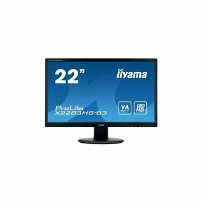 "Iiyama ProLite X2283HS-B3 Monitor Piatto Per Pc 21,5"" Full Hd Opaco Nero Monitor"