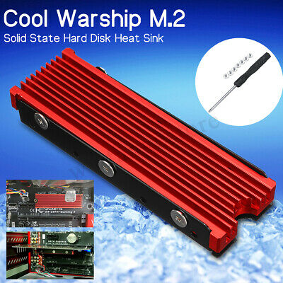 M.2 Solid NVME Aluminum Heatsink NGFF 2280 SSD Cooling Fin Cooler W/ Thermal Pad