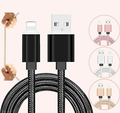 1M Long Braided USB Charger Data Charging Cable Lead For iPhone 6s 7 8 6 5s X XR
