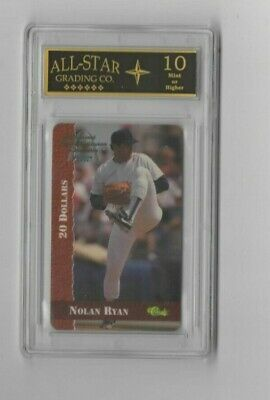 Nolan Ryan 1995 $20 Classic Phone Card National Sports Collector's Con GRADED 10
