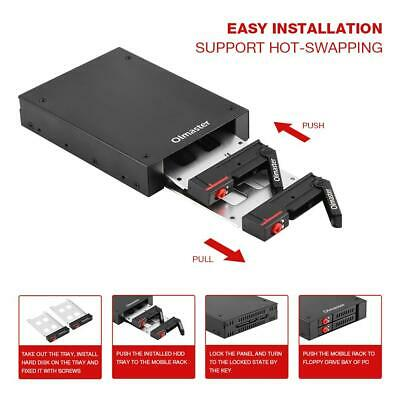 "Dual Bay 2.5"" SATA Hard Drive HDD&SSD Tray Internal Mobile Rack for 3.5"" Floppy"