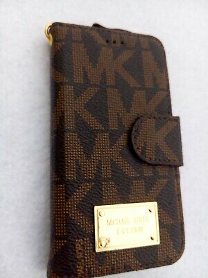 f01937977950 New Michael Kors leather wallet cover case for iphone 6/6s plus brown 5.5'
