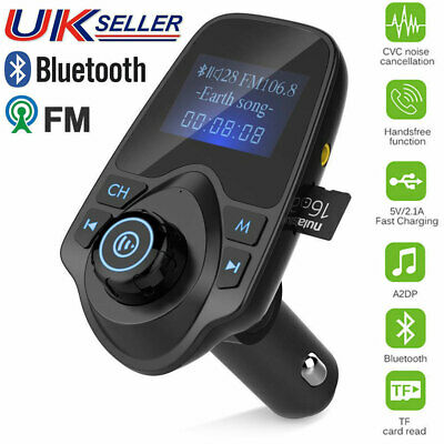 Wireless Bluetooth Car Kit FM Transmitter LCD MP3 Music Player Radio USB Charger
