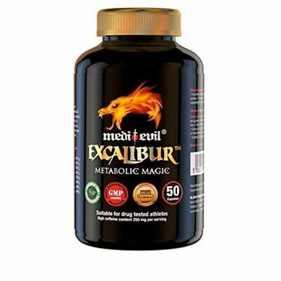 Medi-Evil Fat Burner Excalibur Weight Loss Diet Pills 50 Caps NEW