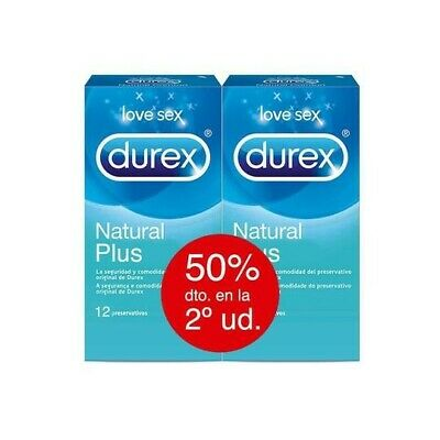 Durex Natural Plus 12+12 unidades Oferta!