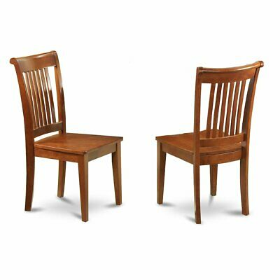 Portland  slat  back  dining  room  chair  with  wood  seat,  Set  of  2