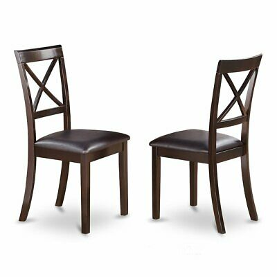 Boston  X-Back  Chair  for  dining  room  with    Faux  Leather  Upholstered...