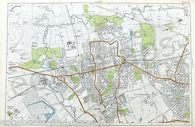 LONDON, 1924 - EALING, ACTON, HANWELL, Original Old Street Map, Bacon.