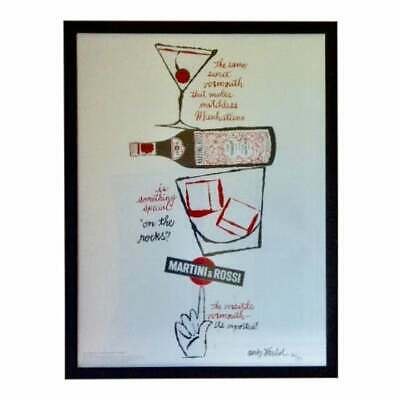 2008 Andy Warhol Signed Martini and Rossi Advertisement