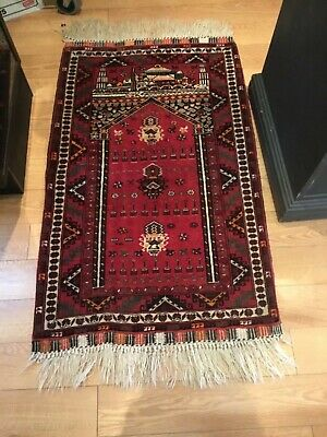 AUTHENTIC ANTIQUE HAND MADE TURKISH RUG EXCELLENT COLORS BRILLIANT 55x28 NO RES