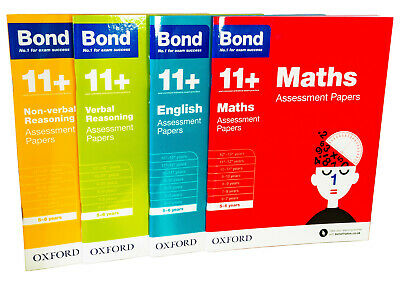 Bond 11+ Assessment Papers English Maths Verbal Reasoning For Age 5 - 6 Years