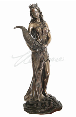 Large Fortuna Roman Goddess of Luck, Fate, and Fortune Statue Sculpture Figurine
